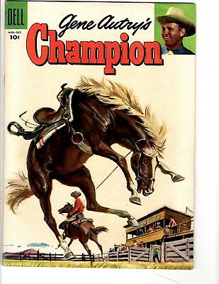 Champion # 19 FN Dell Golden Age Comic Book 1955 Western Gene Autry Horse JL17