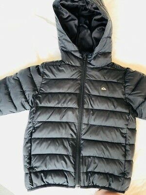 Quicksilver Boys Size 4 Hooded Puffer Jacket...