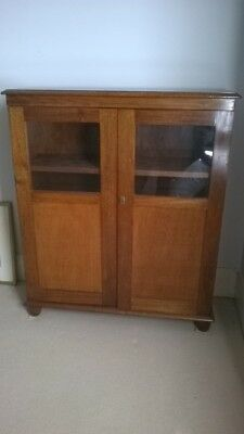 Small 1920 Blackwood bookcase with doors. Perfect for a smaller room.