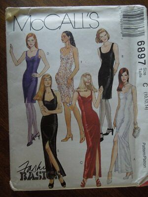 McCalls 6897, sizes 10-14, lined dress, UNCUT sewing pattern