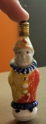 Rare milk glass Old Clown Suit Light Bulb Christmas Painted Antique Hang Tree