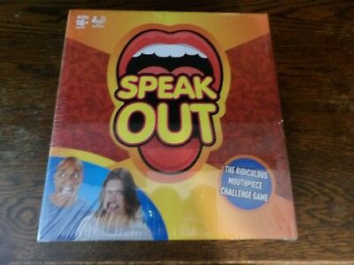 Speak Out Game Board Party Mouth Piece Challenge Family Kids Fun New
