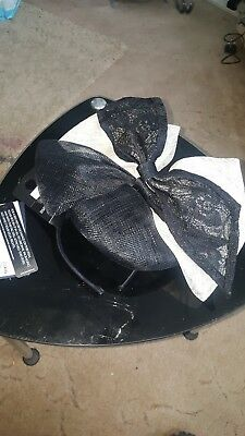 brand new marks and spencers black and noir fascinator rrp £39.50