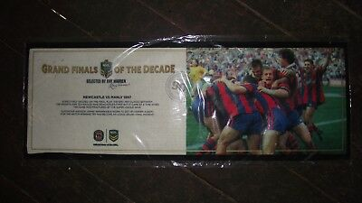 **  1997 Newcastle Manly Grand Final Bar Mat - Bnip - With Photo  **