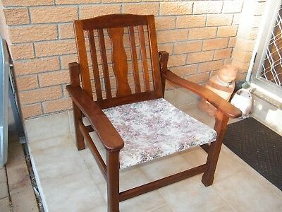 Vintage Silky Oak Chair with 2 Foot Stools Very Good ++ Cond Swivel Back