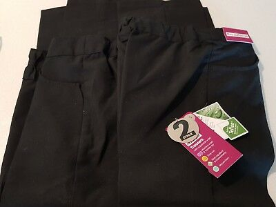 Girls School Trousers Black Size. 6 Two Pair