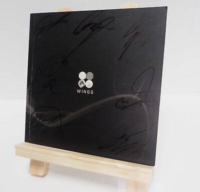 BTS Signed Wings Autographed Signature Album CD Limited Edition KPOP