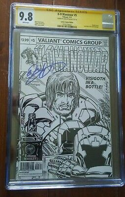 X-O Manowar 5 Larry's Comics Sketch Variant Cgc Ss 9.8 Signed Bob Layton Movie