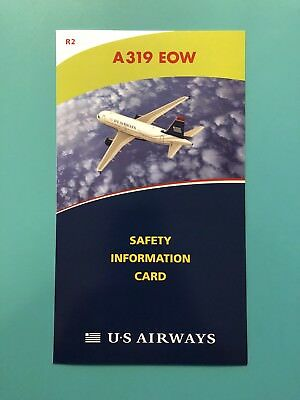 Us Airways Safety Card--Airbus 319Eow