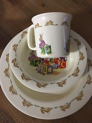 Royal  Doulton  Bunnykins 3 Piece Melamine set. New