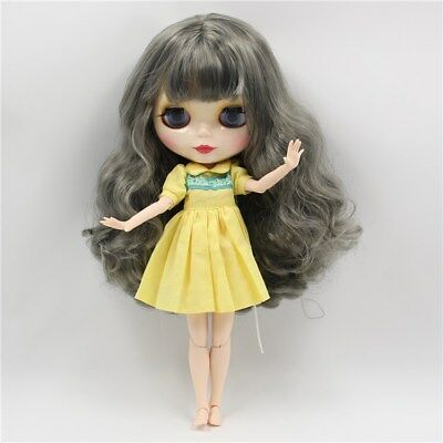 """12/"""" Neo Nude White hair Blythe doll From Factory  JSW5008-2"""