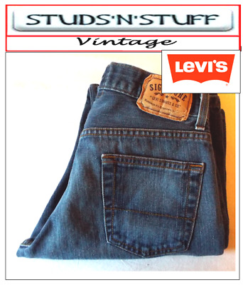 "Vintage Levis Signature Slim Straight Fit Jeans  W30"" L32"" Aprox Size Uk 10 T34"