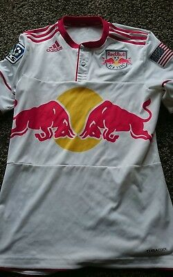 New York Red Bulls football shirt, Small Mens, Adidas Climacool, from the USA