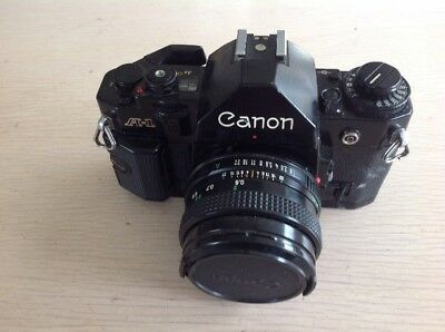 Canon A-1  A1 35mm SLR Film Camera with 50mm lens Kit