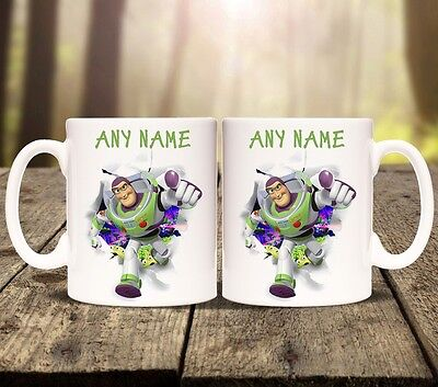 BUZZ LIGHTYEAR TOY STORY PERSONALISED MUG cup tea ADD ANY NAME latte drink woody