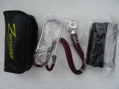 Aneroid Sphygmomanometer & Nylon Adult Cuff Blood Pressure Machine + Stethoscope