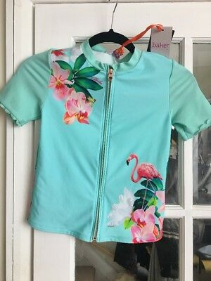 Ted Baker Girls Front Zip Beach Jacket with UPF40+ Age 9-10 New with Tags