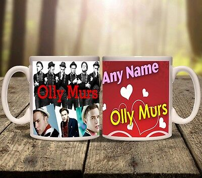 OLLY MURS PERSONALISED MUG cup tea ADD ANY NAME music song love Oliver christmas