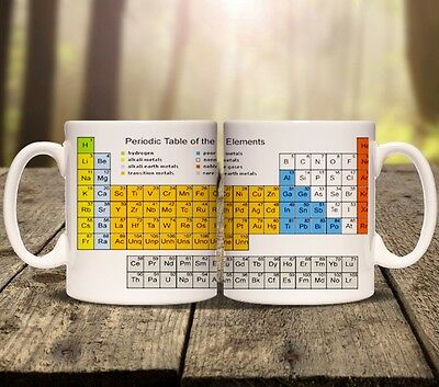 Periodic table chemical elements coffee mug cup chemistry periodic table elements personalised mug cup tea add any name chemistry school urtaz Image collections