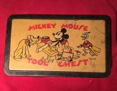 Rare Mickey Mouse Tool Chest 1930S W.D.E.