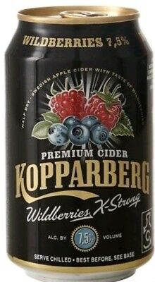 Kopparberg Cidre Wildberries  7,5% 24 x 0,33l pfandfrei