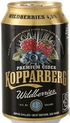 Kopparberg Cidre Wildberries 4,5% 24 x 0,33l pfandfrei
