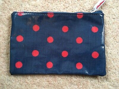 Cath Kidston zip purse/pocket - navy blue with red spots