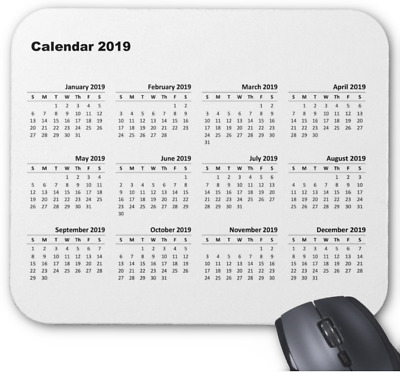 Mouse mat, Mouse pad 3mm or 5mm Rubber Calendar 2019, gift