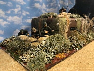 Built Painted D-Day German Bunker Diorama Base Playset W/figures Fov