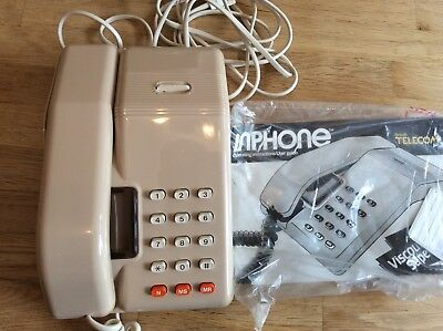 Rare Vintage BT Viscount Telephone With Monitor Button Beige New Unused