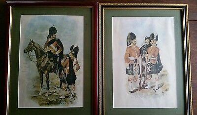 Two framed military pictures of 1893 Scottish troops