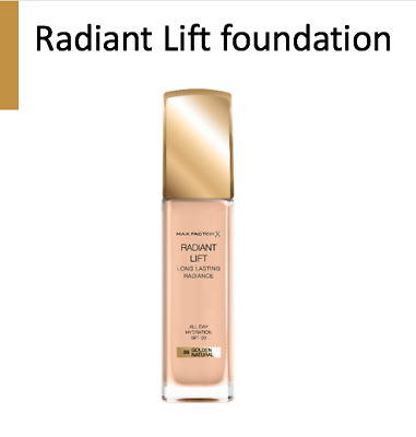 Max Factor Radiant Lift Foundation SPF 30 Long-Last Hydration Hyaluronic Acid