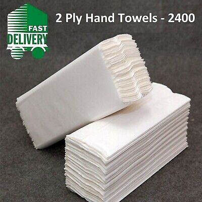 2560 Soft White C Fold Paper Hand Towels Tissues Sheets 1 Ply