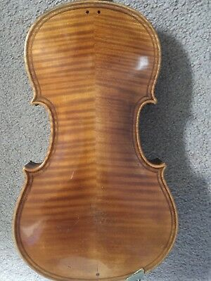 An Old Violin with Double Purfling in an old veneered case