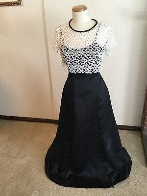 Classy Black Satin Strapless Evening Prom Gown By Bill LevKoff Size 4