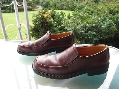 ECCO Womens Leather Slip On Loafers Shoes Size 40