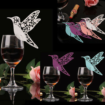 Bird Paper Name Place Card For Wedding Party Table Wine Glass Cake Decoratio RU