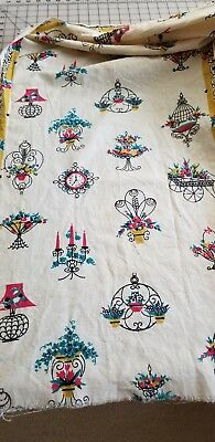VINTAGE TABLE RUNNER/TEA TOWEL FABRIC  -  Laundered. Authentic REDUCED!