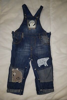 Next Boys Dungarees 12-18 Months