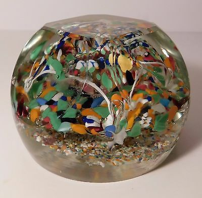 LOVELY Antique AMERICAN DOUBLE LAYERED UMBRELLA Art Glass Paperweight