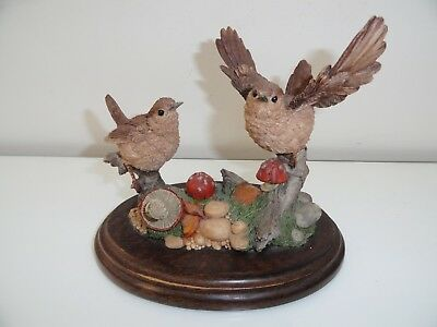 Collectable Pair of Wrens By Country Artists