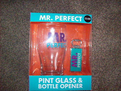 Mr Perfect Glass And Bottle Opener Gift New In Box Ideal Gift Birthday