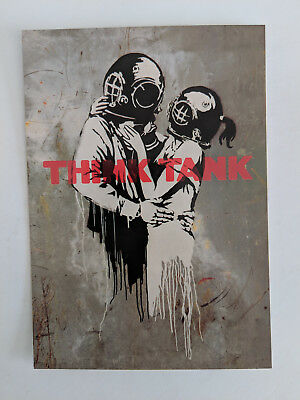 Blur 'Think tank' promo postcard with Banksy artwork mint condition