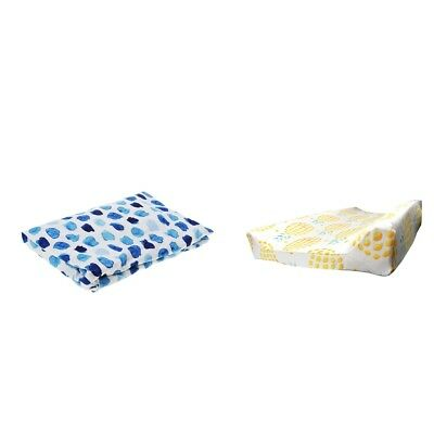 2Pcs Baby Changing Table Pad Cover for Boys Girls Crib Bed Sheet