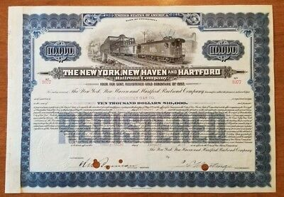The New York, New Haven & Hartford Railroad Company Bond Stock Certificate