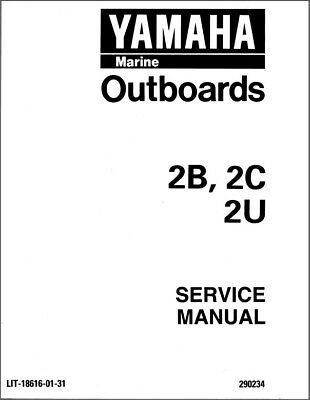 Yamaha F15 F20 4 Stroke Outboard Motors Service Manual Cd