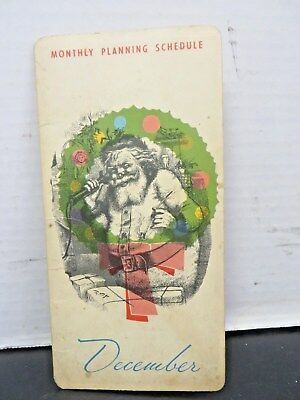 1965 Advertising Calendar-The France MFG Co-December-Notepad-Vintage