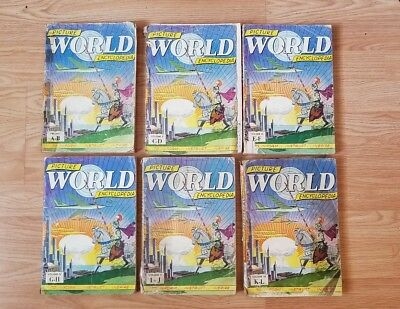 Vintage Rare Picture World Encyclopedia Comic Book Lot 🔥golden Age Htf See Pics
