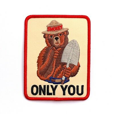 Official Smokey Bear Souvenir Patch Only You US Forest Service Smoky the Bear