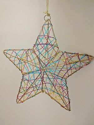 Multi color Dimensional Wire 5 inch Star Ornament